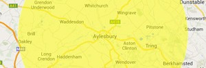Aylesbury area map