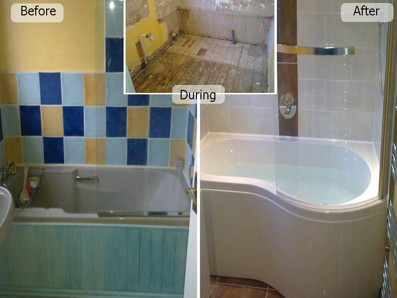 Before, During after a bathroom fitting